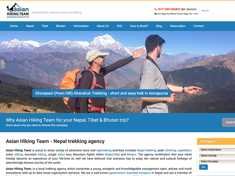 Asian Hiking Team